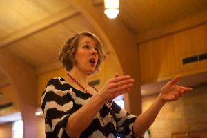 Julie Davis directs the Eastside Choir.